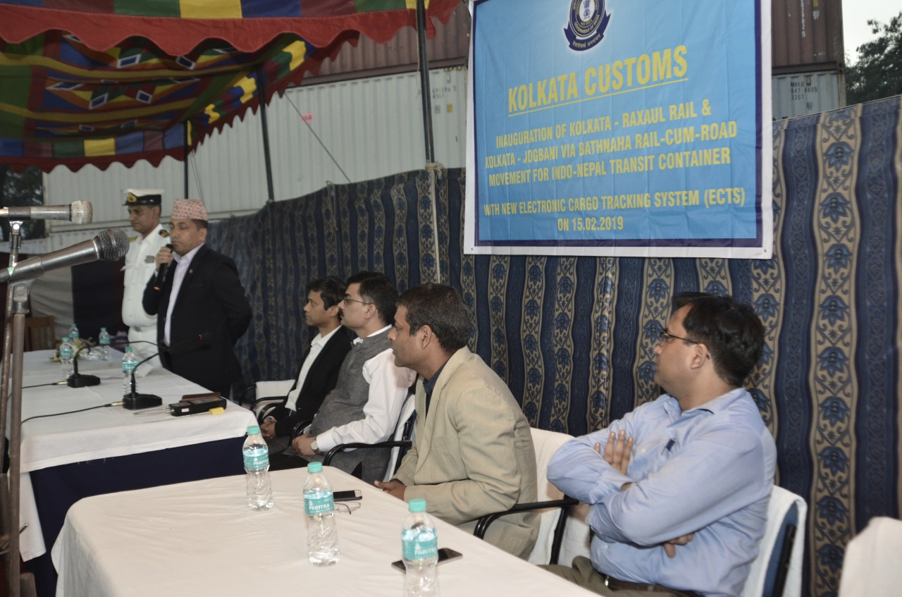 Inauguration of Electronic Cargo Tracking System (ECTS) Implementation for Nepal Transit Cargo on 15.02.2019