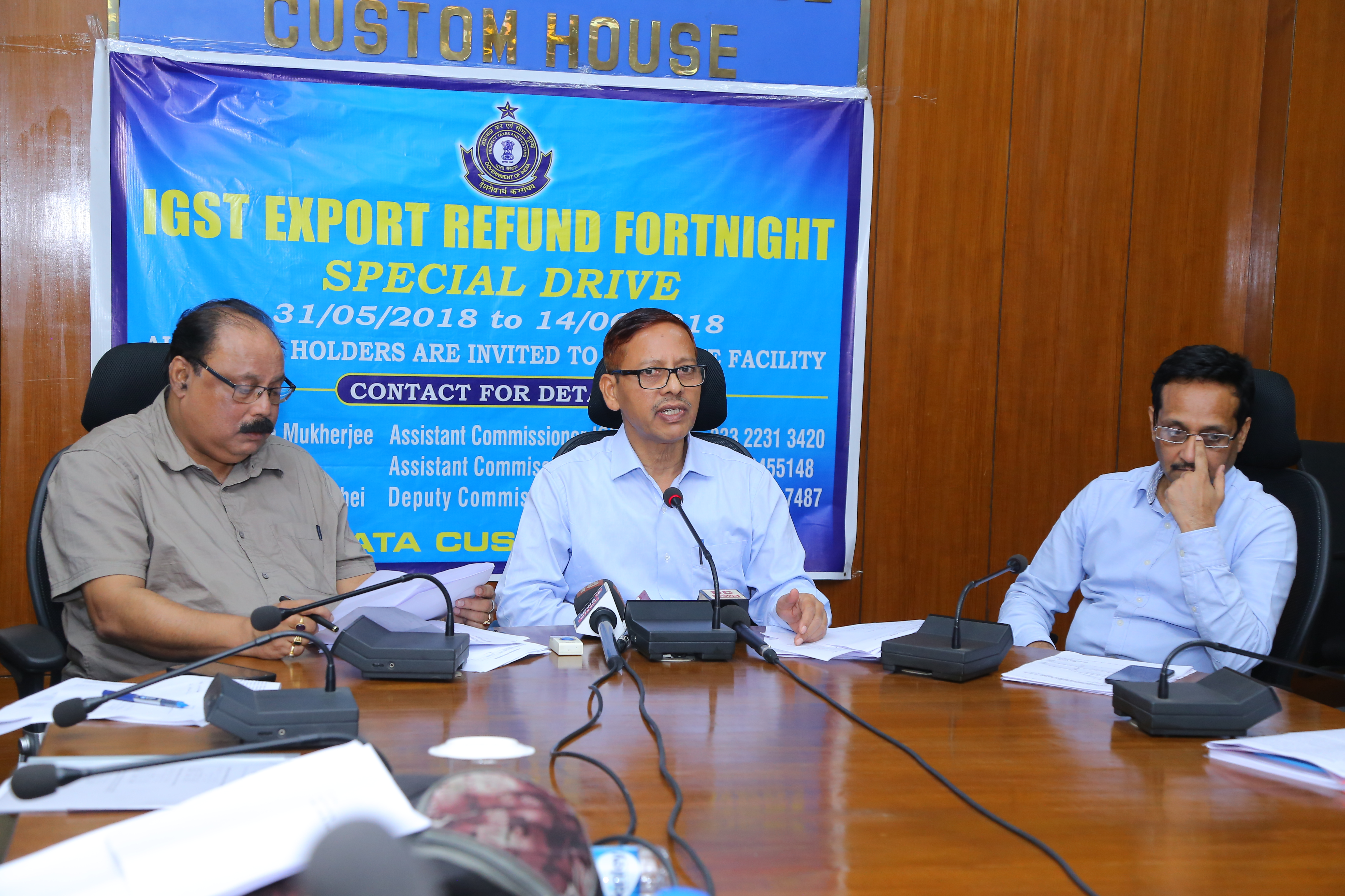 Extension to avail facility of IGST refund special drive from 14/06/2018 to 16/06/2018 - meeting with stakeholders and press conference chaired by CC, Kolkata Zone